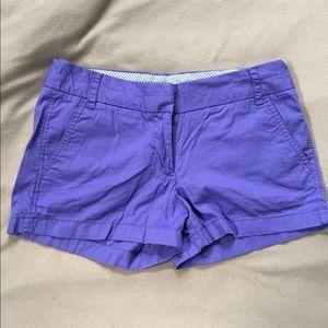 Purple J Crew shorts